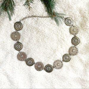 Boho Embellished Medallion Waist Belt